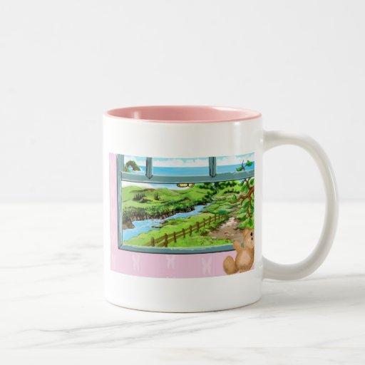 Teddy Bear window sill Coffee Mug