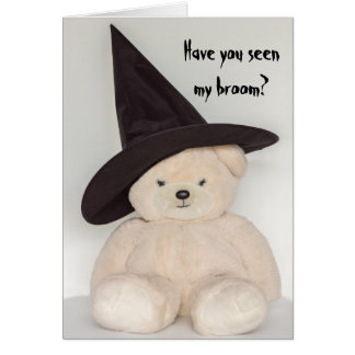 Teddy Bear Witch Card