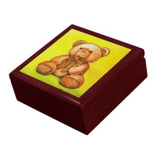 Teddy bear with a bow tie jewelry box