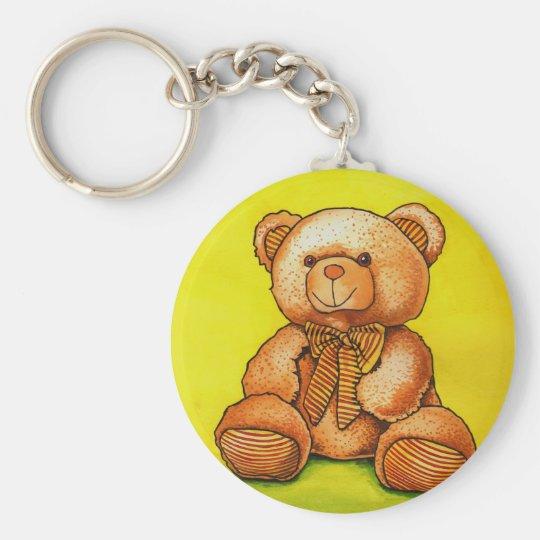 teddy bear with a bow tie keychain