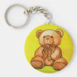 teddy bear with a bow tie keychains
