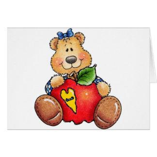 Teddy Bear with Apple Card