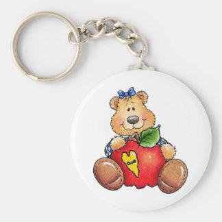 Teddy Bear with Apple Keychain