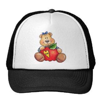 Teddy Bear with Apple Trucker Hat