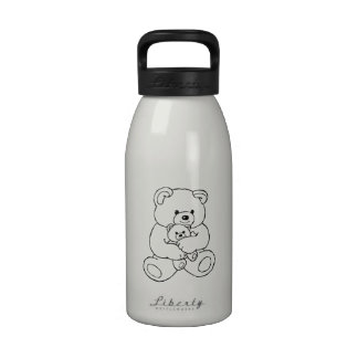 Teddy Bear with Baby Teddy Bear Drinking Bottles