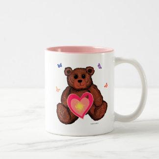 Teddy Bear with Butterflies Inspirational Mug