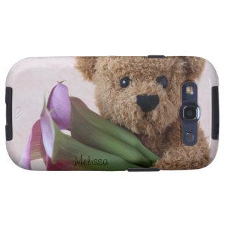 teddy bear with calla lilies Galaxy S3 Vibe case Samsung Galaxy SIII Covers