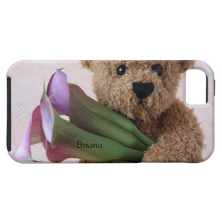 teddy bear with calla lilies iPhone 5 Vibe case