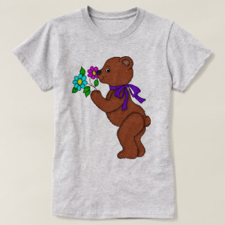 Teddy Bear with Flowers T-Shirt