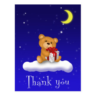 Teddy Bear with Gift Baby Shower Thank you Card