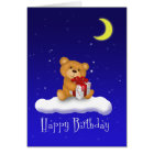 Teddy Bear with gift - Happy Birthday Card