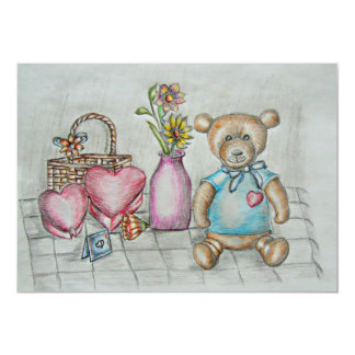 teddy bear with gifts card