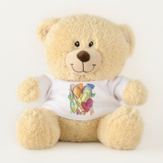 Teddy Bear With Healing Hearts Art Shirt