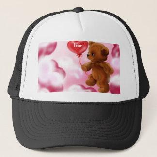 Teddy Bear With Heart Balloon Hat