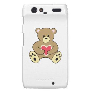 TEDDY BEAR WITH HEART DROID RAZR COVERS