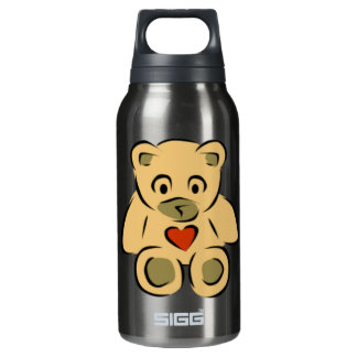 Teddy Bear With Heart Insulated Water Bottle