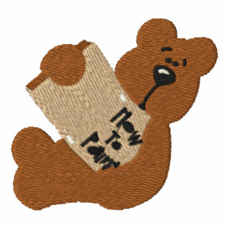 Teddy Bear with How To Paint Book Embroidery D1