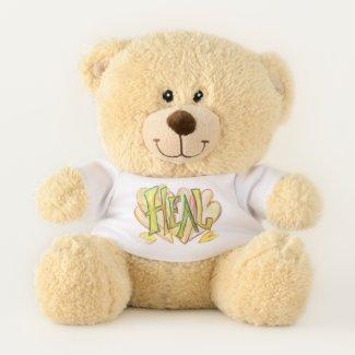 Teddy Bear With Inspirational Word Heal Art Shirt