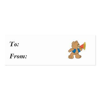 Teddy Bear with Megaphone Business Card Template
