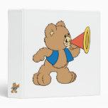 Teddy Bear with Megaphone Vinyl Binder