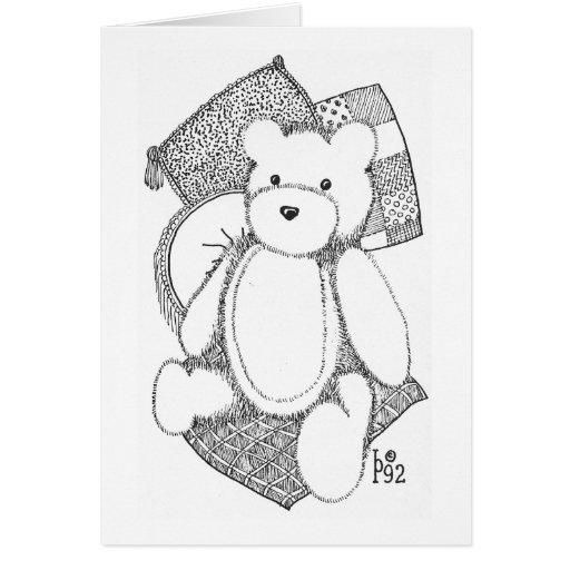 Teddy Bear with Pillows Card