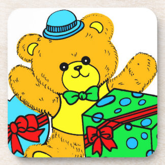 Teddy Bear with Presents,Gifts for Boys Drink Coaster
