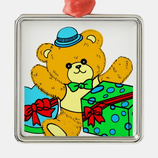 Teddy Bear with Presents,Gifts for Boys Christmas Tree Ornaments