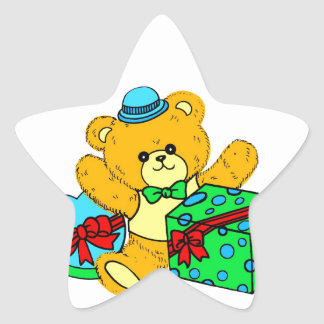 Teddy Bear with Presents,Gifts for Boys Star Sticker