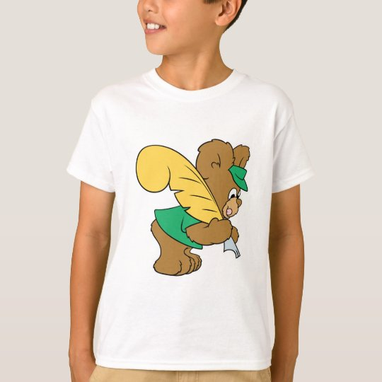 teddy bear with quill pen writer T-Shirt