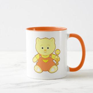 Teddy Bear with Rattle Mug