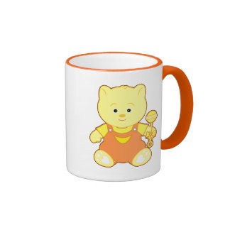 Teddy Bear with Rattle Ringer Coffee Mug