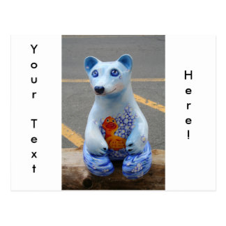 Teddy Bear with Rubber Ducky! Postcard