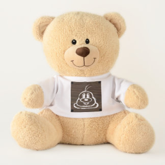 Teddy Bear & Wooden Panel 3 鲍 鲍 (Medium)