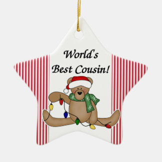 Teddy Bear World's Best Cousin Ornament
