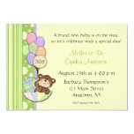 Teddy Bear Yellow Baby Shower Invitation