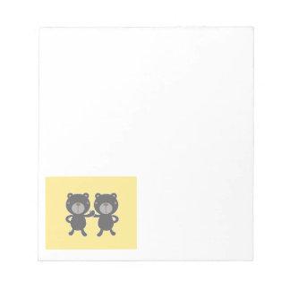 Teddy bear - Yellow Notepad