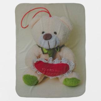 Teddy bear stroller blanket
