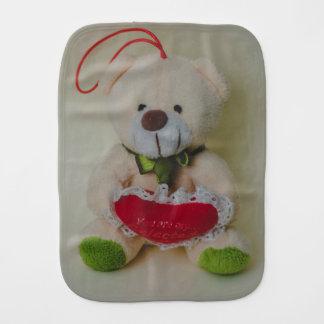 Teddy bear baby burp cloths
