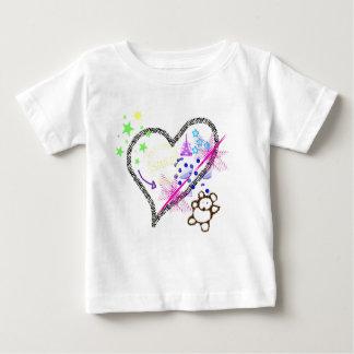 Teddy Bear Zebra Heart Collage T-shirt