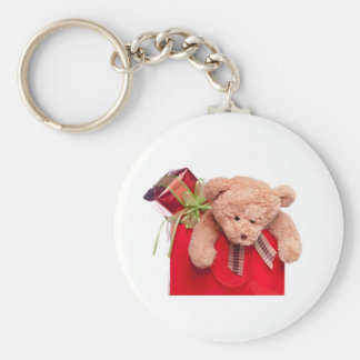 teddy bears and gifts basic round button keychain