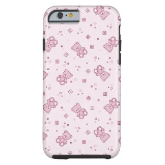 Teddy bears background Pink iPhone 6 Case