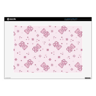 """Teddy bears background Pink Skin For 15"""" Laptop"""