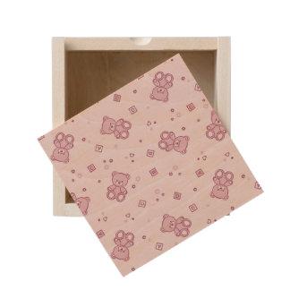 Teddy bears background Pink Wooden Keepsake Box