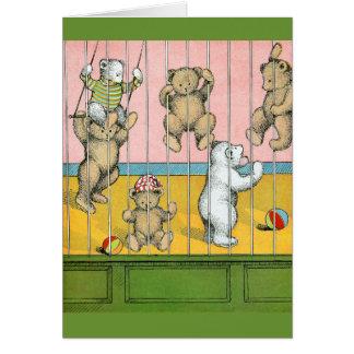 Teddy Bears Behind Bars Greeting Cards