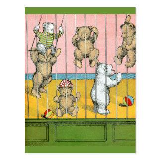 Teddy Bears Behind Bars Postcards