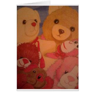 teddy bears card