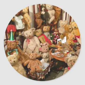 Teddy Bears Collectors Paradise Classic Round Sticker