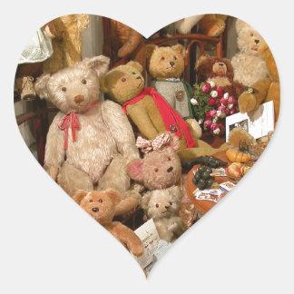 Teddy Bears Collectors Paradise Heart Sticker