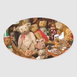 Teddy Bears Collectors Paradise Oval Sticker