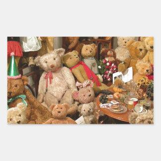 Teddy Bears Collectors Paradise Rectangular Sticker